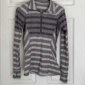Lululemon grey striped half zip 4